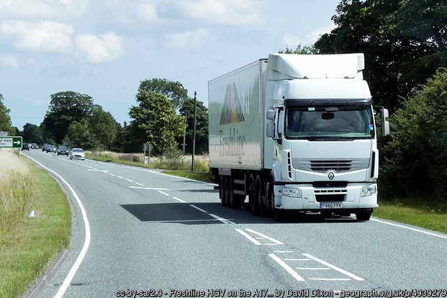 Relaxation of Road Traffic Legislation sees Speed Limit HGVs on the A9 Raised